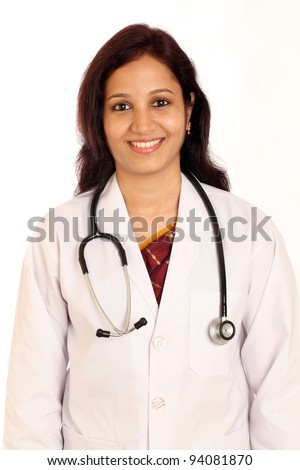 Cheerful Indian female doctor