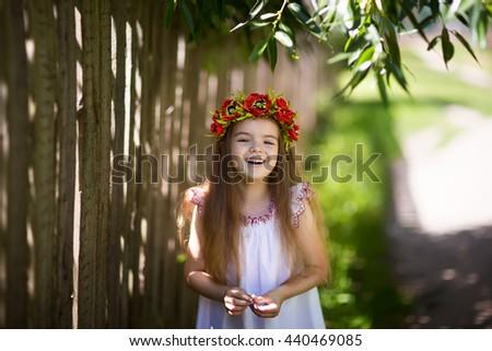 cheerful little girl - stock photo