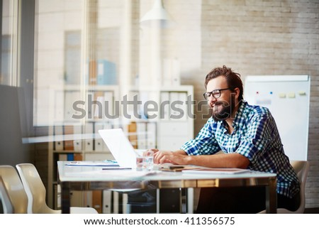 Cheerful office worker