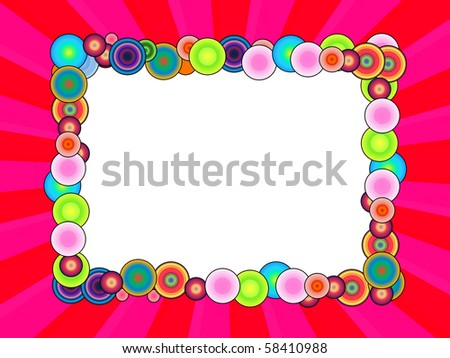 Cheerful Photo Frame - stock photo