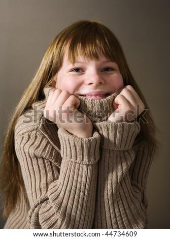 Cheerful teenage girl - stock photo