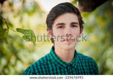 cheerful teenager - stock photo