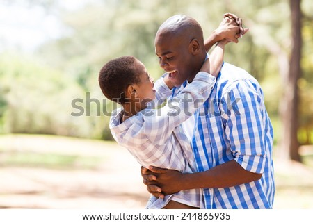 cheerful young african couple in love
