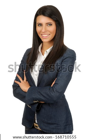 Cheerful young woman - stock photo