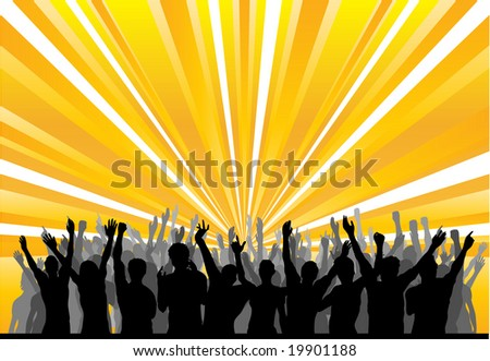Cheering Audience - stock photo