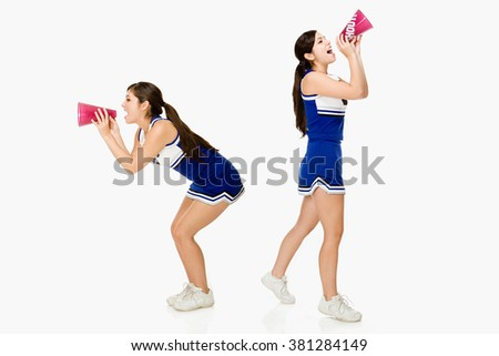 Cheerleaders - stock photo