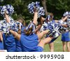 Cheerleaders Cheering at Game 1 - stock photo