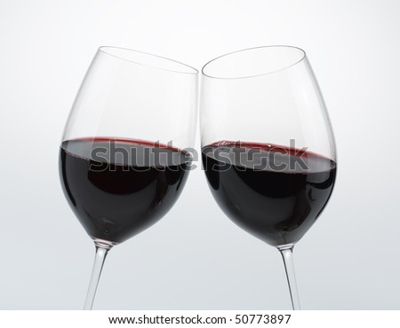 Cheers ! Red Wine - stock photo