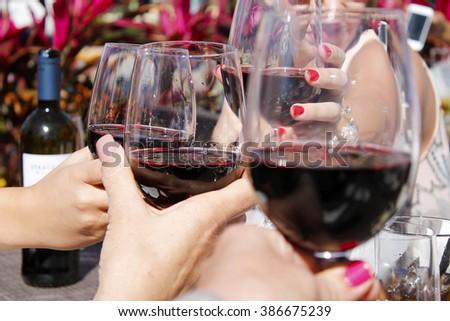 Cheers to the wine - stock photo
