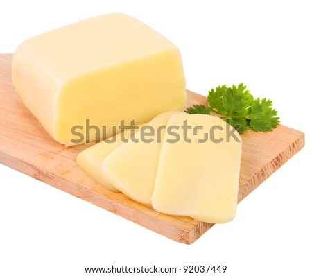 Cheese and parsley - stock photo