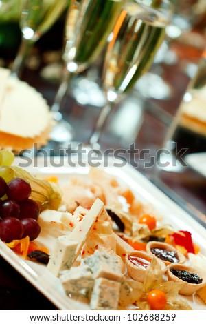 Cheese assortment - stock photo
