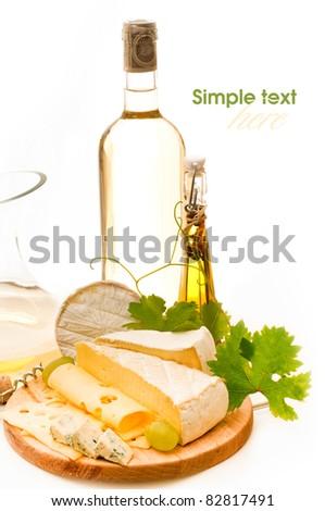 Cheese background - stock photo