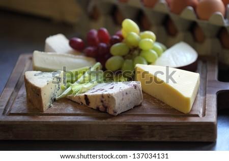 Cheese board. - stock photo