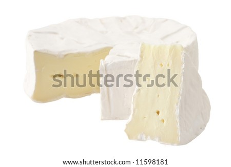 cheese brie cut fresh isolated delicious white