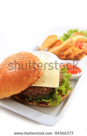 cheese burger - stock photo