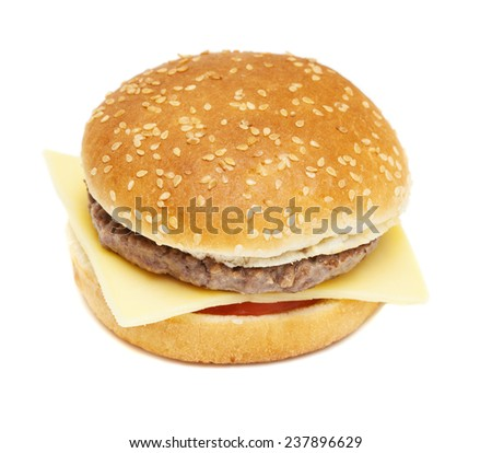 cheese burger isolated on white background