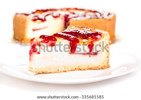 Cheese cake with berry topping