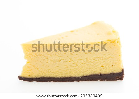 Cheese cakes isolated on white background