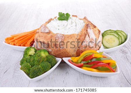 cheese cream and vegetables