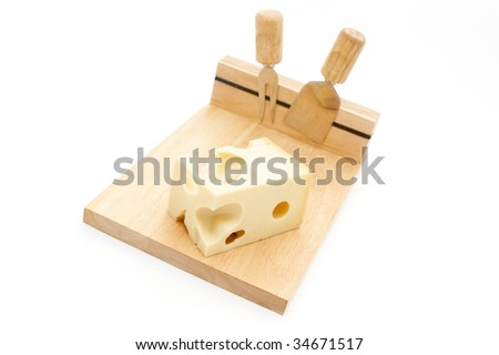 Cheese cutting board with tools