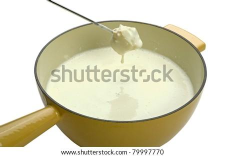 cheese fondue (clipping path) - stock photo