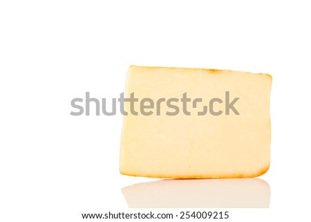Cheese Isolated on a White Background. - stock photo