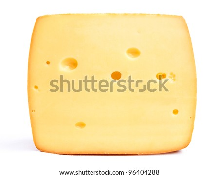 cheese isolated on a white background - stock photo