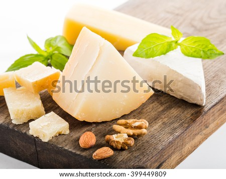 cheese isolated on white - stock photo