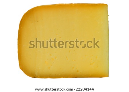 Cheese, isolated on white background