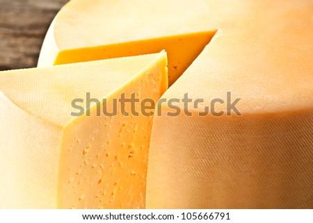 Cheese. Macro - stock photo