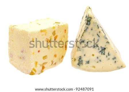 Cheese on white background - stock photo