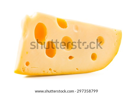 Cheese over white background. - stock photo