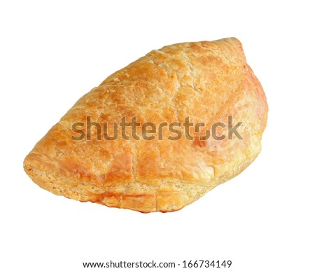 cheese pie isolated on white background - stock photo