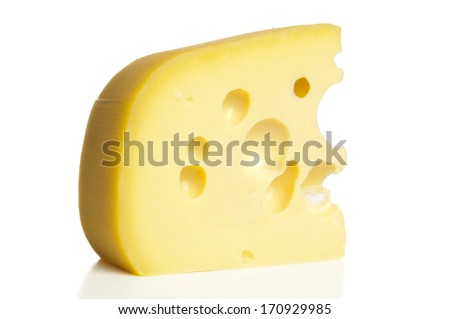 Cheese piece closeup
