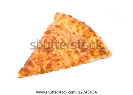 Cheese Pizza with white background, close up