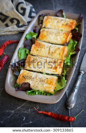Cheese puff pastry - stock photo