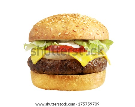 cheeseburger - stock photo