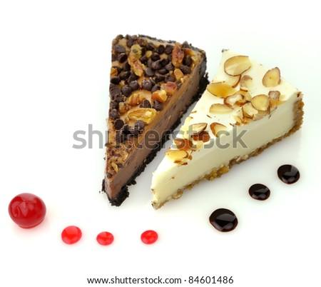 Chocolate Cream Angel Slices With Cherry-Berry Sauce Recipes ...