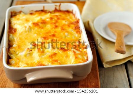 Cheesy bake - stock photo
