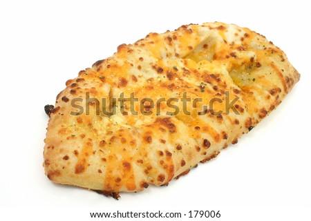Cheesy garlic bread. - stock photo