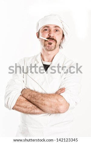 chef angry - stock photo