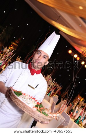 chef at new year gala dinner