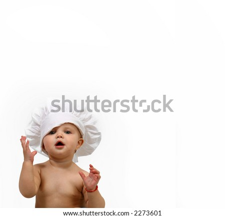 Chef - baby - stock photo