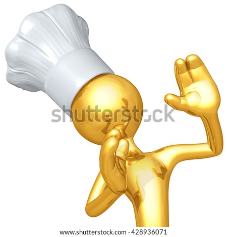 Chef Character 3D Illustration - stock photo