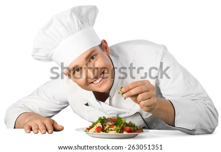 Chef, Cooking, Restaurant. - stock photo
