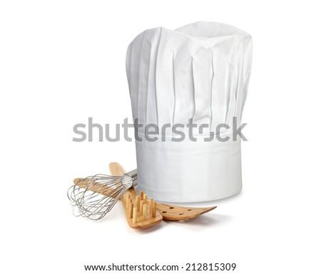 Chef Hat and utensils - stock photo