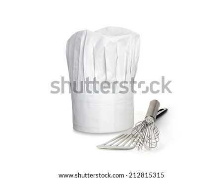 Chef Hat and utensils - stock photo
