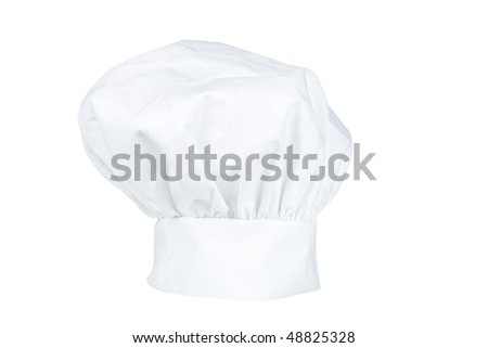 Chef hat isolated on a white background - stock photo