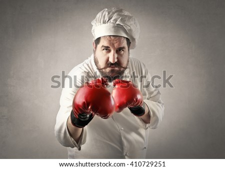 Chef in a fight