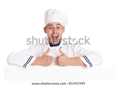 Chef man. Isolated over white.